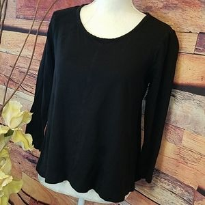 STYLE & CO LIGHTWEIGHT BLACK TOP